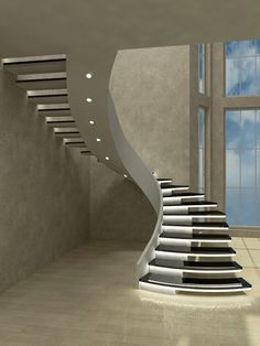 📣 97 Most Popular Modern House Stairs Design Models 36 Source by vrogueinc Staircase Design Modern, Stair Railing Design, Home Stairs Design, Bungalow House Design, Modern Stairs, House Front Design, Interior Stairs, Home Room Design, Modern House Design