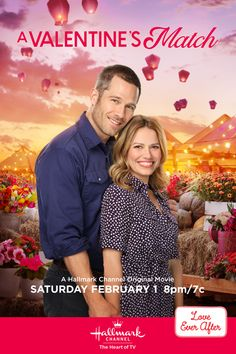 "Will Natalie (Bethany Joy Lenz) rekindle her romance with ex-fiancee Andrew York (Luke Macfarlane) during the town's festival auction? Tune in to ""A Valentine's Match"" on February for an all new original romantic premiere on Hallmark Channel. Family Christmas Movies, Hallmark Christmas Movies, Hallmark Movies, Family Movies, New Movies, Movies To Watch, Good Movies, Holiday Movies, Xmas Movies"
