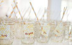 mason jar with paper straw - Google Search