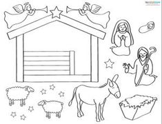 Nativity Scenes Nativity And Coloring Pages On Pinterest