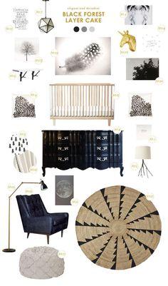 black and white nursery inspiration