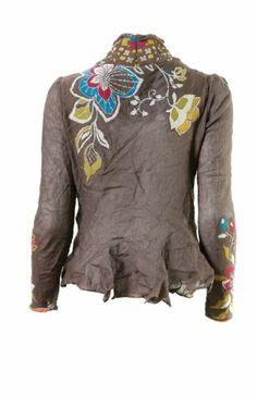 Amazon.com: Ivko - Metallic Fine Knit Intarsia Cardigan - Medium - Tabac: Clothing