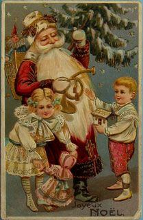Christmas Ornaments Paper and Spun Glass Postcards and Menus Merry Christmas, Christmas Scenes, Father Christmas, Christmas Greetings, Christmas Ornaments, Christmas Mantles, Xmas, Christmas Postcards, Christmas Villages