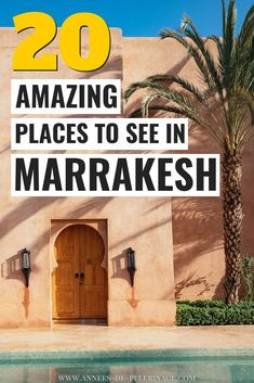 The 20 BEST things to do in Marrakesh, Morocco – Rebecca and the World - Value activa Visit Morocco, Marrakech Morocco, Morocco Travel, Africa Travel, Marrakech Travel, Italy Travel, Places To Travel, Places To See, Travel Destinations