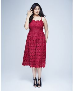 Plus Size Red Lace Dress (sizes 8 - 22)