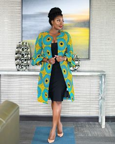 Items similar to african print women's jacket /african print blazer jacket /african wedding dress /ankara blazer/african formal dress/african womens jacket on Etsy Ankara Dress Styles, African Print Dresses, African Fashion Dresses, African Dress, Ankara Fashion, African Prints, Fashion Outfits, Fashion 2018, Dress Fashion