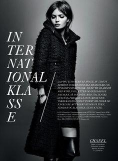 Magazine layout / Editorial design / Moa Aberg shot by Jonas Bie for Eurowoman December 2013