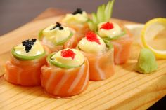 Salmon Roses Only R 48.00 (Salmon, Avo, Mayo , Caviar)\  Contact us at Long Fen Chinese Restaurant 044-690 5570