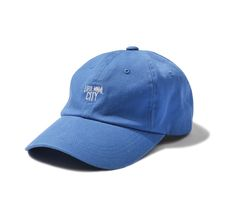[MINIMAL CITY WASHED CURVED CAP royal blue]