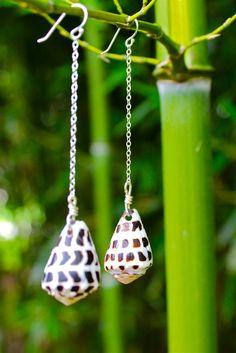 Hawaii Cone Shell Sterling Silver Earrings by SweetPeaGlass, $32.00  https://www.etsy.com/listing/107277864/hawaii-cone-shell-sterling-silver