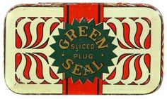 Green Seal Tobacco Tin
