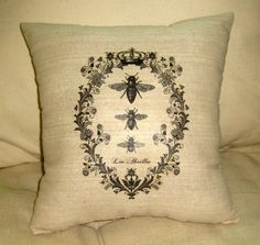 French Queen Bee Pillow $15.99