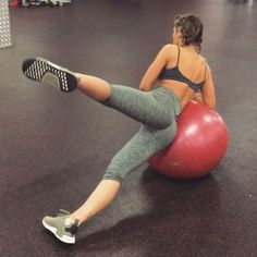 BOOTY WITH A BALL All you need is a Swiss ball and a fitty of a workout buddy @krissycela . We finished our glutes sesh with this little circuit of exercises do them at home or at the gym just grab yourself a ball and you're sorted . Side leg lift Wall lunge Single leg glute lift Lying locust We did 12 reps on each exercise and did 4 circuits #megganfitmusic #fitspo #workoutvideo #gymvideo #squatvideos #gym_videos #bootyworkout #buttworkout #bootyvideo
