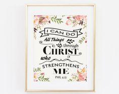 Ich kann alles durch Christus der gibt mir von SweetLittleOnesShop