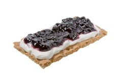 Ricotta Cheese and Blueberry Jam on Wasa Hearty Crispbread