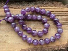 Аметист шар 10 мм гладкий бусины камни для украшений. Handmade.