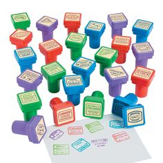 Turn geography study into a learning game with these stampers! They& classroom supplies that make lessons fun. Use them as learning tools when you . Teaching Supplies, Classroom Supplies, Classroom Themes, Teaching Ideas, Future Classroom, Party Supplies, Classroom Projects, Classroom Organization, Around The World Theme