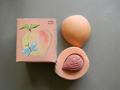Avon Pretty Peach Soap...and it smelled really good too.  So did the pear...