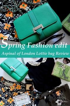 Spring Floral fashion Edit and my Lottie Aspinal of London Bag pinterest. Lottie green spinal of `london bag, Flowers and bright coloured clothes. London shopping