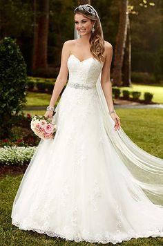 718b0ab6c3b9 Strapless lace A-line princess wedding dress. Stella York, Fall 2015 Aline  Wedding
