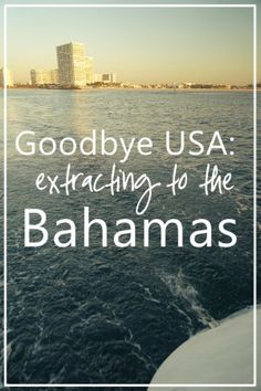 Making the break: what's intimidating about sailing from the USA to the Bahamas.