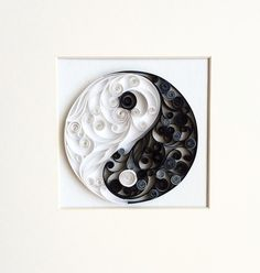 Quilling Paper Art Wall Decor Yin Yang by QllArt on Etsy
