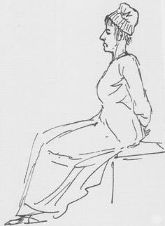 Maria Antonietta condotta al patibolo, disegno, David, 1793, Louvre.