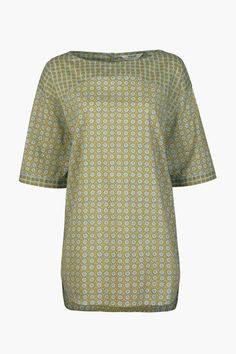 Seasalt tunic top inspired by artists and gardeners. With a loose fit, in airy cotton and with elbow-length sleeves. Ideal for pottering round the garden