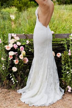 Showcase your wedding day curves in the elegant and stylish Watters Willowby Inez 54107 wedding dress. This beautiful gown is fashioned from re-embroidered lace. The slim fitting bodice showcases a plunging V-neckline and fine spaghetti straps, and a deep plunging back with scalloped lace edges. The gown molds to the body in fit and flare style, with the long skirt finishing in a spectacular sweep train.