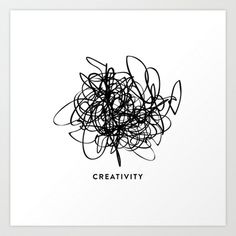 this is a map of my brain // creativity Art Print by Note to Self: The Print Shop - $15.00