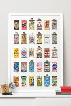 Vintage Beer Can Wall Art