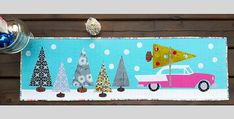 They'll be Wonderful in Whatever Colors You Prefer! What's as much fun as picking out the tree in a cool vintage car? Having one or both of these table toppers to evoke a bit of nostalgia for those happy times. They're a whimsical addition to your holiday decor and make lovely gifts too. Choose between …