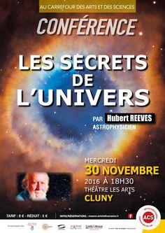 """Conférence """"Les secrets de l'univers"""" le 30 novembre 2016 à Cluny : http://clun.yt/2cneHbQ"""