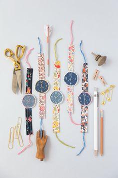 DIY fabric watches