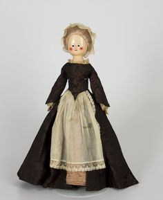 doll 1790-1820 Material wood | paint | wig | fabric Origin England Style Queen Anne