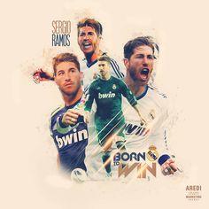 Sergio Ramos, Real Madrid, football, sport, illustration, poster, design, sports media, soccer, graphic, social, art, AREDI