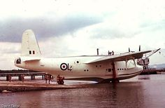 Short Sunderland PP127 on the slipway at RAF Seletar 1950's