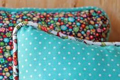 Your pillows can get a new look every year with bias tape cording.