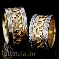 Üç Renk Özel Altın Alyans : www.altinalalim.com #altin #altinalyans #gift