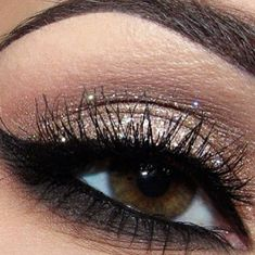 Gold& instead of black brown eyeliner