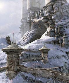 Art by Stefan Morrell   Sci-fi & Fantasy Art    Worldbuilding    Worlds