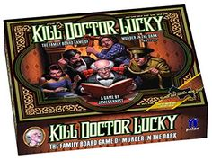 Kill Doctor Lucky Game Paizo Publishing. Game similar to clue but the game ends when someone kills Dr. Lucky.