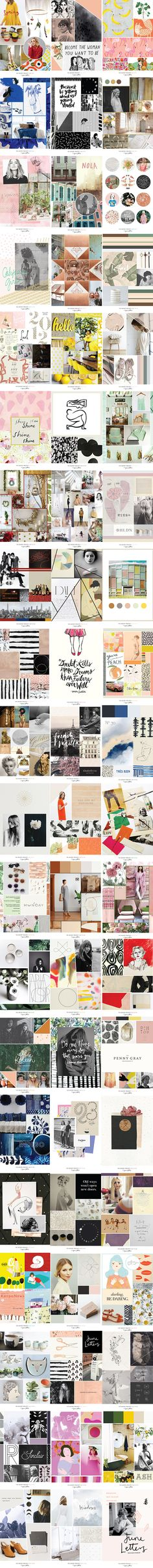 60 Mood Boards - June Letters The Moody Project  Blog — June Letters Design