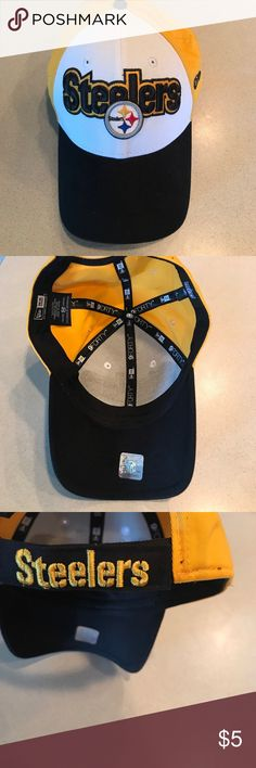 Steeler baseball hat great condition Like new Steeler hat. Has Velcro closure in the back New Era Accessories Hats