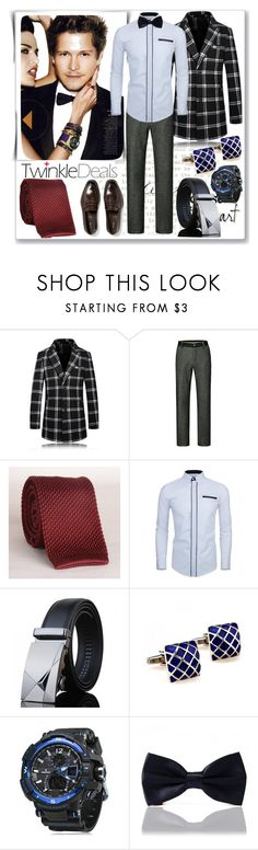"""""""Men's fashion :single-breasted coat"""" by ane-twist ❤ liked on Polyvore featuring twinkledeals"""