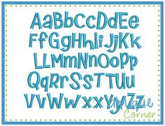 Chatty Kathy Embroidery Font