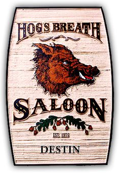 Hogs Breath Saloon. Fun atmosphere. Outside patio and lots of room inside for eating as well.