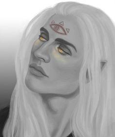 "gilthoniel-o-elbereth: "" Sauron the Deceiver I just read The Silmarillion (again) so I decided to draw Sauron pre-giant flaming eyeball. So here ya go """