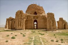 The Sassanid Palace at Sarvestan (Persian: کاخ ساسانی سروستان kakh-eh Sassani-ye Sarvestan) is a Sassanid-era building in the Iranian province of Sarvestan, some 90 km southeast from the city of Shiraz. The palace was built in the 5th century AD, and was either a gubernatorial residence or a Zoroastrian fire temple.