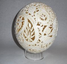 Paisley Ostrich Egg by artophile on Etsy, $380.00